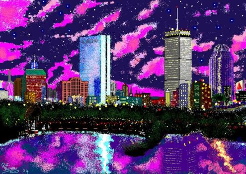 Boston MS PAINT by CaptainRedblood