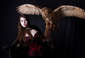 Lady and the Owl by Mircalla-Tepez