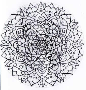Untitled mandala 1 by Rowbs