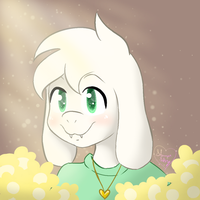 Asriel Icon [+Speedpaint] by Shimmer-Shy