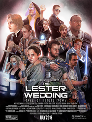 Illustrated Movie Poster Style for Wedding by thedarkcloak