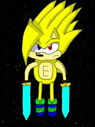Super Echo The Hedgehog (with Power Bands) by b-dog66