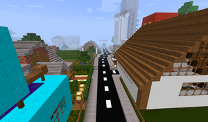 Minecraft creative town by qaau74E