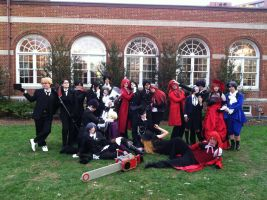 Black Butler Full Cast Pose 1 by SailorDerp