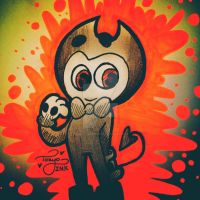 Chibi Bendy by Tokyoinkwolf