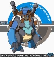 Pokemon Fusion : BLASTOISE x CARRACOSTA