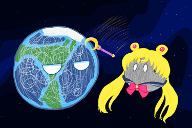 Sailor Moon - Planetball by IffyComet
