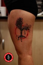 Tree tattoo aac dovme watercolor abstract ar by mertkanongun