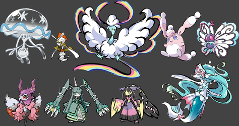 some fake mega and fusions by Nyjee