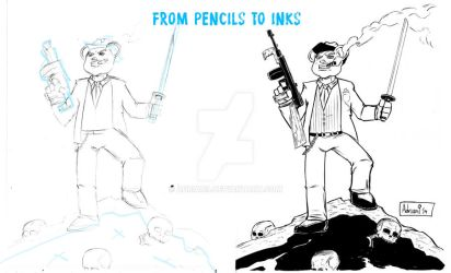 Pencils to Inks by ADRIAN9