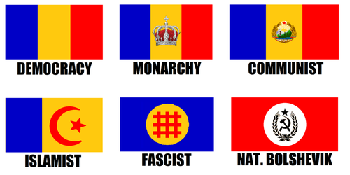 Alternate Flags of Romania by wolfmoon25