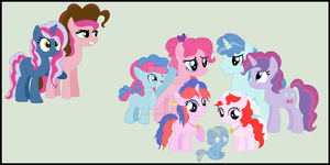 Pinkie Pie's Family NG(Universe A) by StarHeartWaveSong