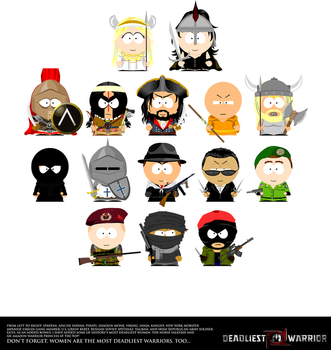 Deadliest Warrior: South Park by FearOfTheBlackWolf