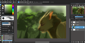Unfinished painting of Dirtyfoot by ChikkiArts