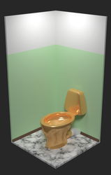 Golden toilet by MikePestr