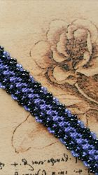 Violet and Black Goth Hemp Bracelet by silhouettes-spirits
