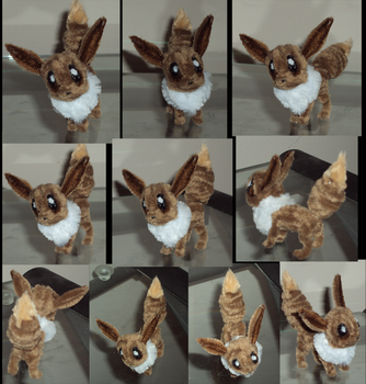 Eevee Pipecleaners by Amelius