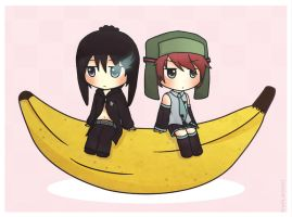 Cryle on a banana.. by EXPL0SIVO