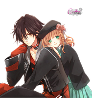 Amnesia Shin and Heroine png/render by amuchan06
