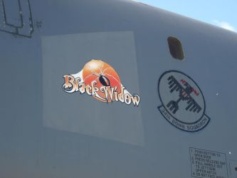 McConnell Airshow 2018: B-1B Black Widow Noseart by lonewolf3878