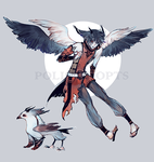 [CLOSED] adopts auction - Dark Red Owl by Polis-adopts