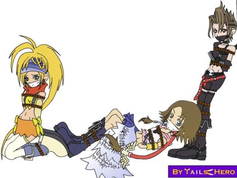 KH2 FFX2 girls in DID by SuperTailsHero