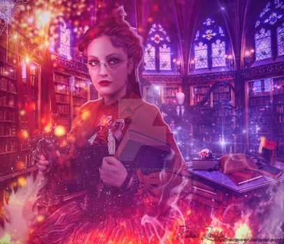 The Librarian by Renata-s-art