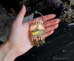 Forest Lake Pendant with Labradorite and Kyanite