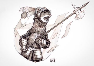 Weasel Mercenary by zazB