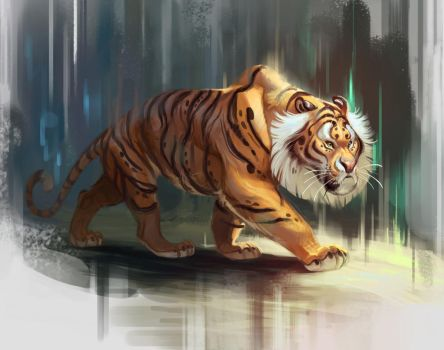 Tiger Painting by TehChan