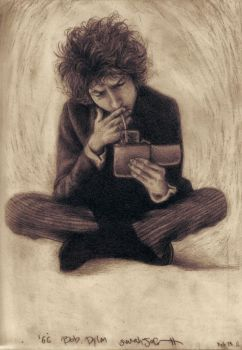 Bob Dylan Pencil and Graphite by dwightyoakamfan