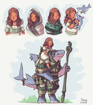 Awrea and Upani - Concept by Astral-Requin