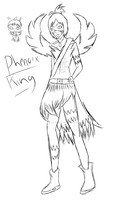 Phenoix King  sketch by NatalieGuest