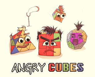 Angry Cubes by Mossar
