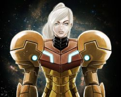 Samus fan art by AlonsoAlatriste