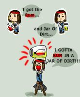 Rum and Jar Of Dirt by InvaderShego