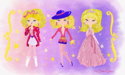 Barbie and the Rockers - looks 1 by Louise-Rosa
