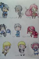 black butler chibis by penguinmeg