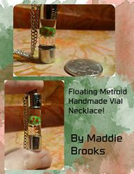 Floating Metroid Vial Necklace by TheGeekEmporium