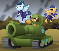 Commission:  FOR EQUESTRIA! by AleximusPrime