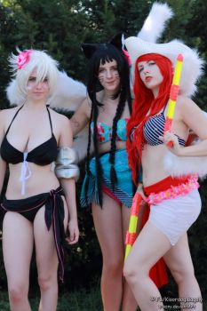 Riven, Ahri and Miss Fortune 4 by V-kony