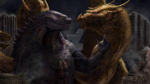 Godzilla vs. King Ghidorah by Demplex