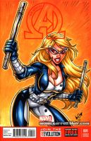 Mockingbird sketch cover commission by gb2k