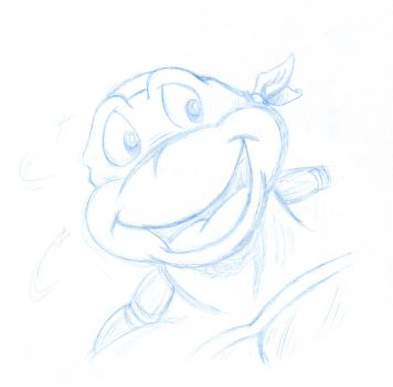 Sketch of Mikey by PaulJPowers