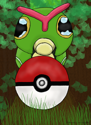 Caterpie in forest by Nerssie