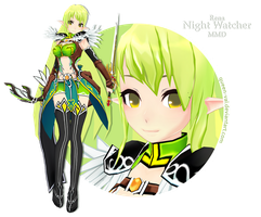 Elsword MMD - Rena - Night Watcher DL by queen-val