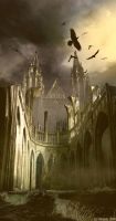 Somber Castle by vimark