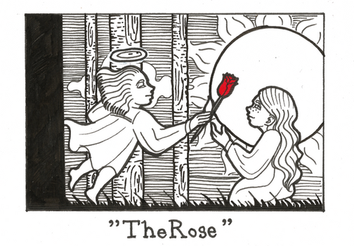 Inktober day 26 - The Rose by Kaizoku-hime