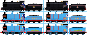 Donald and Douglas the Scottish Twin Engines by Galaxy-Afro