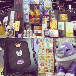 Gen Con Art Show Booth by blix-it